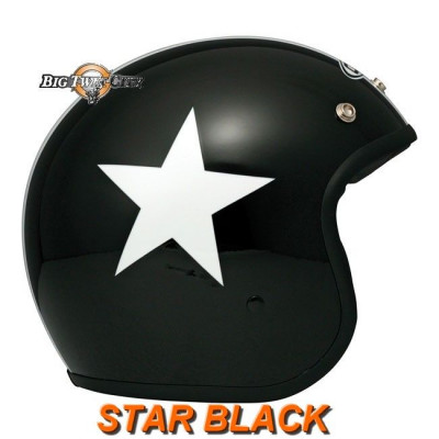Casque Jet DMD Vintage Star Black