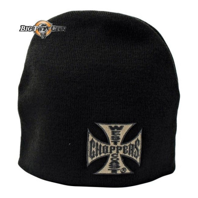 BONNET BIKERS WEST COAST CHOPPERS BASIC GRIS FONCE