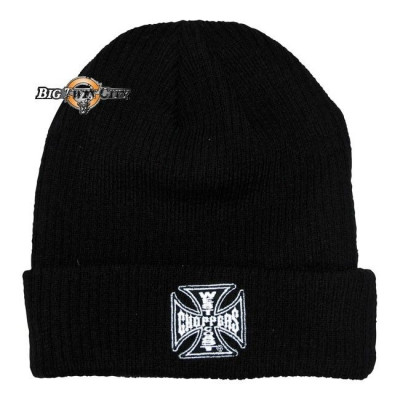 BONNET BIKERS WEST COAST CHOPPERS IRON CROSS NOIR