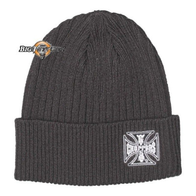 BONNET BIKERS WEST COAST CHOPPERS IRON CROSS GRIS