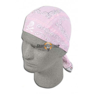 BANDANA BIKERS ROAD HOG ROSE PAISLEY