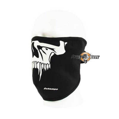 MASQUE BIKERS SCHAMPA NEOPRENE SKULL SABERTOOTH