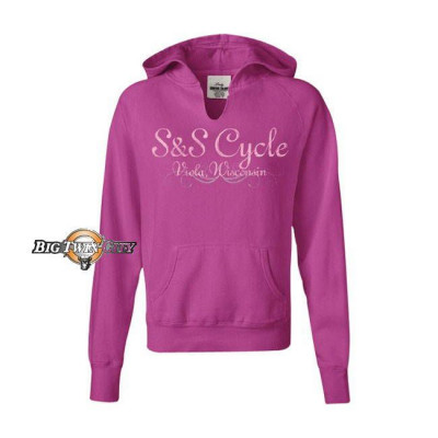 SWEAT A CAPUCHE FEMME S&S FRAMBOISE