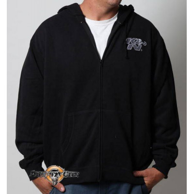 SWEAT A CAPUCHE K&N ORIGINAL LOGO ZIP NOIR