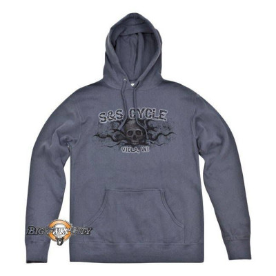 SWEAT A CAPUCHE S&S SKULL GRIS