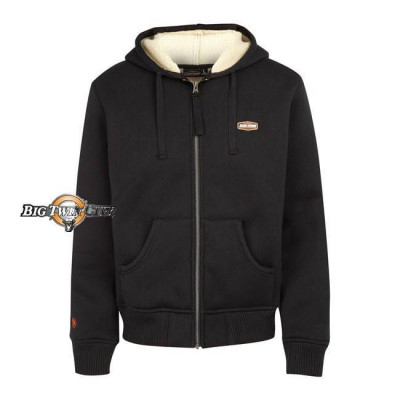 SWEAT ZIPPE A CAPUCHE JESSE JAMES SHERPA INDUSTRY NOIR - FACE