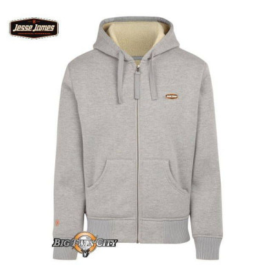 SWEAT ZIPPE A CAPUCHE JESSE JAMES SHERPA INDUSTRY GRIS