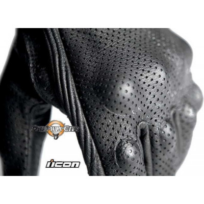 GANTS FEMME ICON PURSUIT TOUCHSCREEN PERFORE NOIR