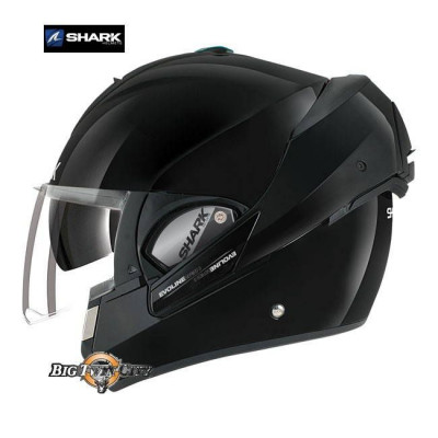 CASQUE MODULABLE SHARK EVOLINE 3 NOIR BRILLANT