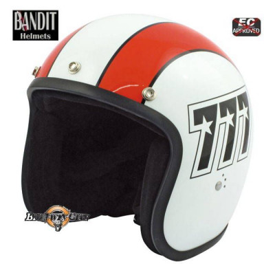 Casque Jet Bandit 777 Orange / blanc