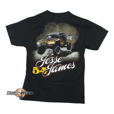 Tee-shirt Jesse James racing noir