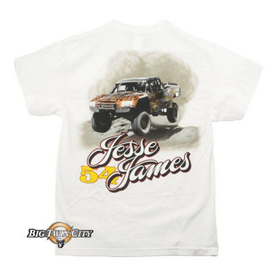 Tee-shirt Jesse James jump racing blanc