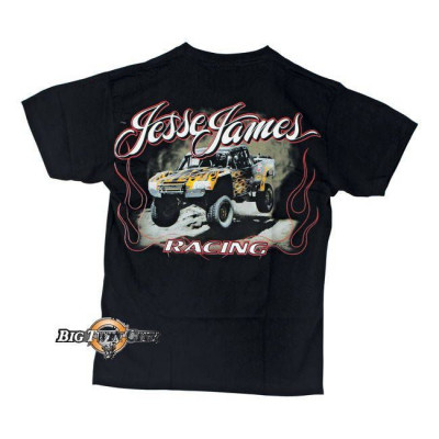 Tee-shirt Jesse James jump racing noir