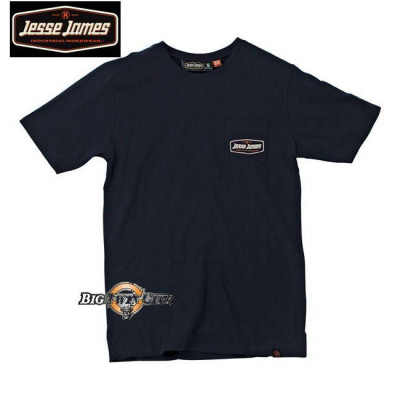 Tee-shirt Jesse James pocket logo navy