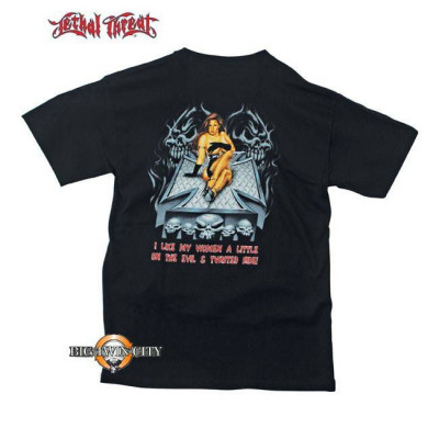 TEE-SHIRT LETHAL THREAT TWISTED CROSS BABE - DOS