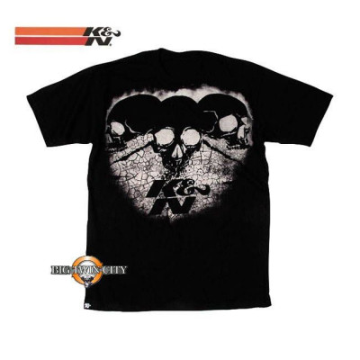 Tee-shirt K&N three skulls noir