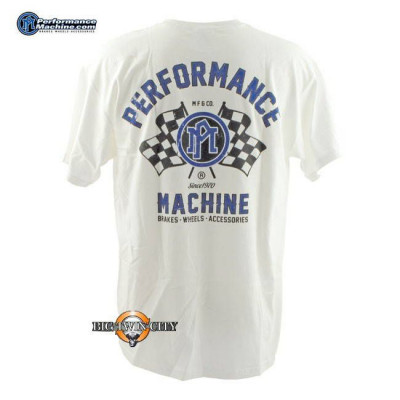 Tee-shirt Performance Machine racing blanc