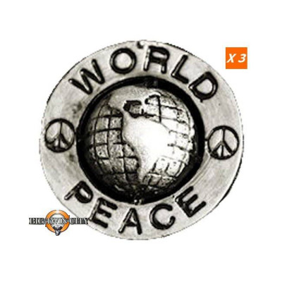 PINS WORLD PEACE BIKER