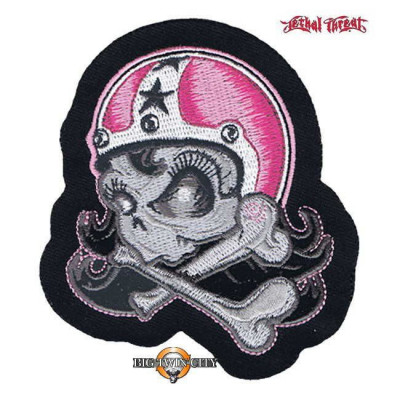 ECUSSON / PATCH GIRL HELMETT SKULL LEFT