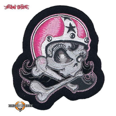 ECUSSON / PATCH GIRL HELMETT SKULL RIGHT