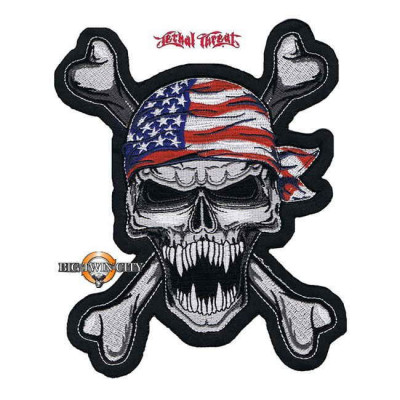 ECUSSON / PATCH USA SKULL