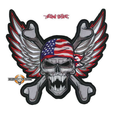 ECUSSON / PATCH WINGED EAGLE SKULL USA
