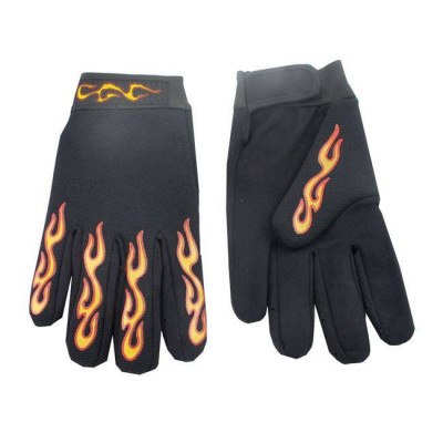 GANTS MECHANICS CHOPPERS FLAMMES