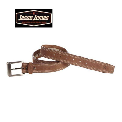 CEINTURE JESSE JAMES CUIR MARRON