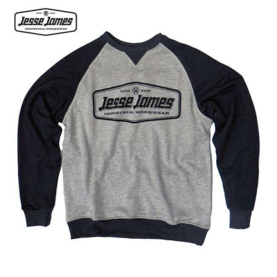 SWEAT JESSE JAMES INDUSTRY RAGLAN NOIR / GRIS