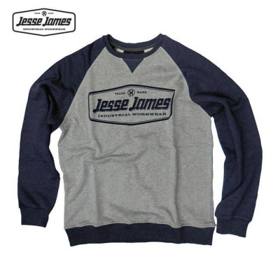 SWEAT JESSE JAMES INDUSTRY RAGLAN NAVY / GRIS
