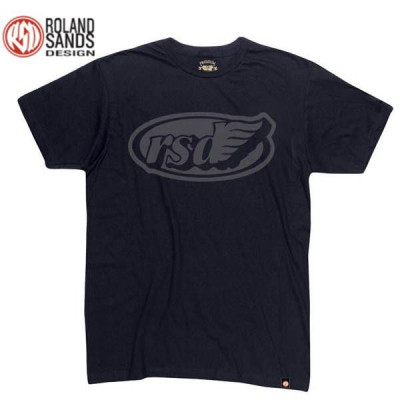 T-shirt Homme Roland Sands Cafe Wing Noir
