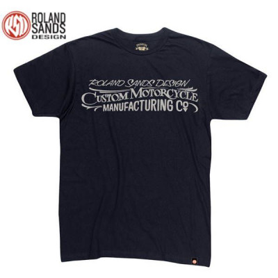 T-shirt Homme Roland Sands Custom MC Noir