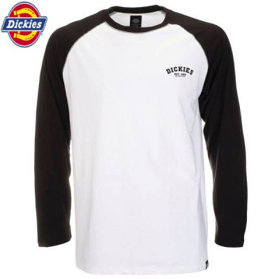 T-shirt Homme Dickies Baseball Shirt Noir
