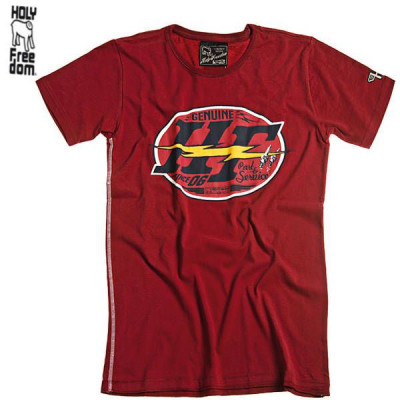 T-shirt Homme Holy Freedom Red Logo Rouge
