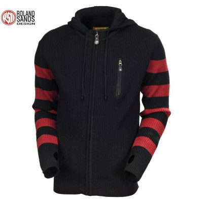 Sweat Homme Roland Sands Folson Noir & Rouge