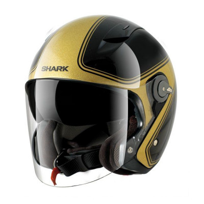 Casque Jet Shark RSJ noir / or