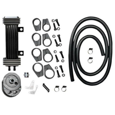 Radiateur d'Huile Vertical Deluxe Jagg Dyna Softail Sportster Touring