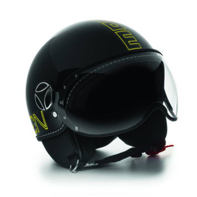 Casque Jet Momo Design FGTR Glam Noir Brillant