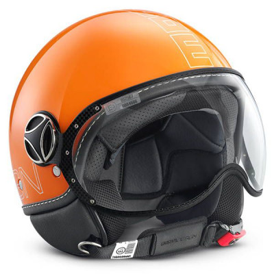 Casque Jet Momo Design FGTR Glam Orange Brillant
