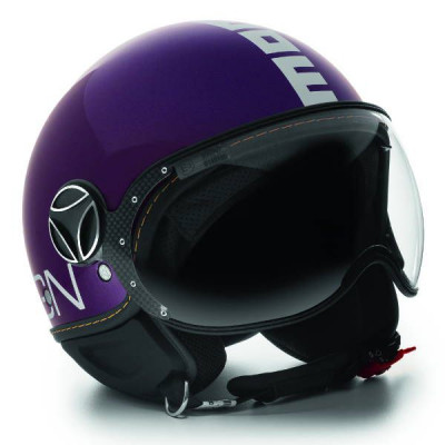 Casque Jet Momo Design FGTR Evo Prune Brillant