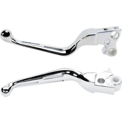 Paire de Leviers Slotted Chrome Harley 84/95