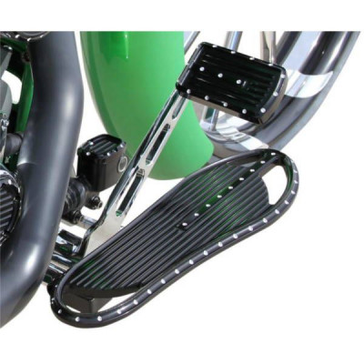 Marche pieds Pilote Covingtons Customs Dimpled Black Dyna, Softail, Touring