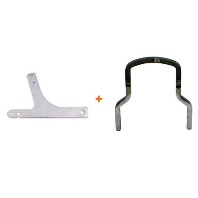 Kit Platines + Sissy Bar court Chrome Dyna 02/05