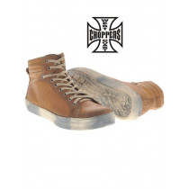 Chaussures West Coast Choppers CFL Sneaker Marron