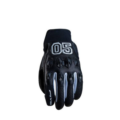 Gants Moto FIVE Stunt Leather Homme Noir (Campus)