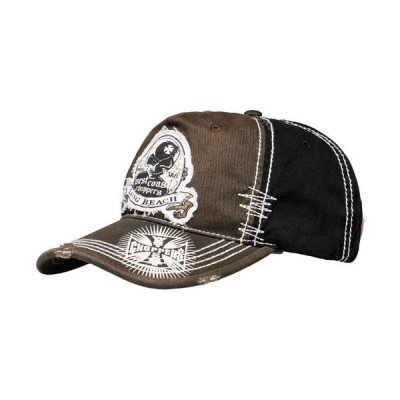 Casquette West Coast Choppers Death proof Noir / Marron