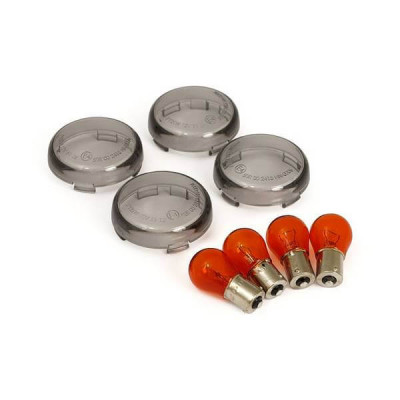 Cabochons de Clignotants Fumé Dyna, Softail, Sportster, Touring