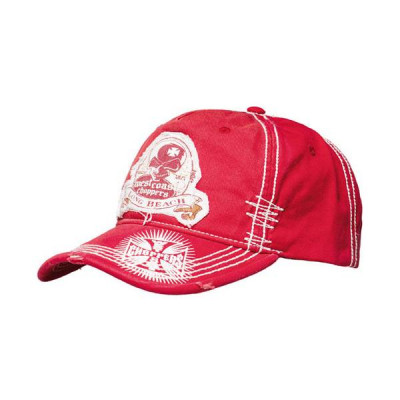 Casquette West Coast Choppers Death Proof Rouge