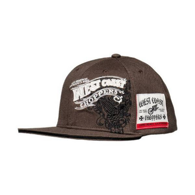 Casquette Visière Plate West Coast Choppers Wings Anthracite