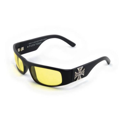 Lunette West Coast Choppers Original Cross Yellow